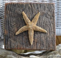 Starfish Beach Decor Wall Hanging or Shelf Sitter with Driftwood Rustic Beach Theme Coastal Coastal Decor, Rustic Decor, Beach Themes, Beach Ideas, Beachy Room, Surf Room, Recycled Garden Art, Beach Color, Beach Signs