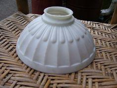 Rare Art Nouveau Satin Milk Glass Ceiling by Antiquelampsandparts, $49.95