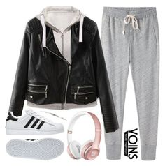 """some[day]"" by alexandra-provenzano ❤ liked on Polyvore featuring Steven Alan, adidas and yoins"