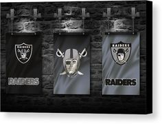 Raiders Canvas Print featuring the photograph Oakland Raiders by Joe Hamilton