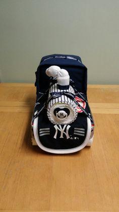 Train Diaper Cake for any Sports Team. NY by Lorianosdiapergifts