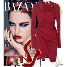 Oh, baby by eleonoragocevska on Polyvore featuring polyvore fashion style Elie Saab Masquerade Yves Saint Laurent Versus Theo Fennell By Malene Birger Michael Kors NARS Cosmetics Chanel Sergio Rossi Christian Louboutin