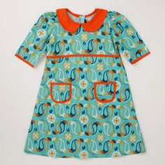 Infant - Toddler All over Print Dress with Contrast Trim - Girls Dresses - Events