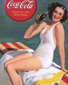 lea fait sa pub - femme - coca cola pin up