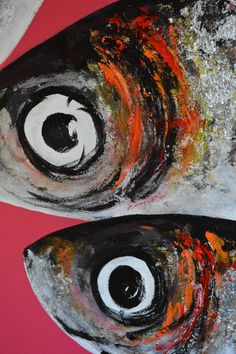 Fish Wall Art, Outdoor Wall Art, Mini Canvas Art, Bar Art, Fish Print, Animal Paintings, Art Pictures, Cool Art, Creations
