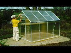 Harbor Freight Greenhouse UNBOXING & Setup Hot House Container Garden Pa...