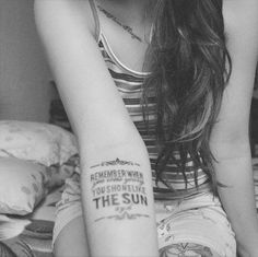 "This is my Pink Floyd tattoo, it says: ""Rememeber when you were young you shone like the sun."" Lyrics from the song S.hine on Y.ou crazy D.iamond, writen for Syd Barret."