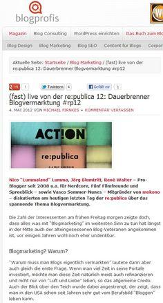 (fast) live von der re:publica 12: Dauerbrenner Blogvermarktung #rp12