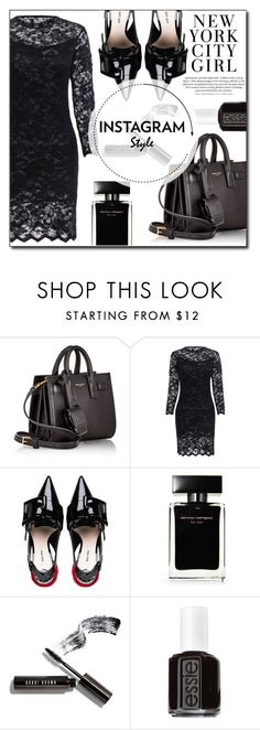 """""""Untitled #418"""" by fashion-pol ❤ liked on Polyvore featuring Yves Saint Laurent, Miu Miu, H&M, Narciso Rodriguez, Bobbi Brown Cosmetics and Essie"""