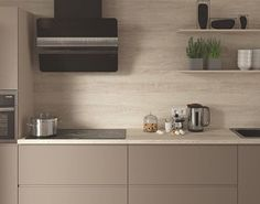 Here we see a coordinated look using Egger Cascina Pine H1401 ST22, wall cladding and worktop, combined with PerfectSense Matt Cashmere Grey U702 PM. To order samples of these decors go to: http://www.egger.com/shop/en_GB//Decors-Furniture-interior-design/H1401-ST22/p/H1401_22 and http://www.egger.com/shop/en_GB/Decor/U702-PM-ST2/p/U702_PM