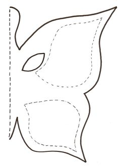 Modèle masque papillon                                                                                                                                                                                 Plus Butterfly Stencil, Butterfly Project, Fabric Butterfly, Butterfly Template, Butterfly Fairy, Butterfly Crafts, Flower Template, Paper Cutting Templates, Drawing Templates
