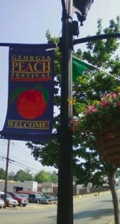 """The Georgia Peach Festival in Fort Valley, Georgia ~ home of """"The World's Largest Peach Cobbler"""" • photo: The Warner Robins Patriot"""