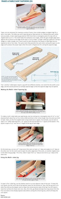 Make a Table Saw Tapering Jig