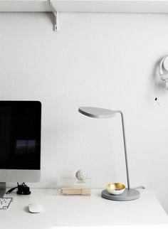 Clean White Desk / A Merry Mishap