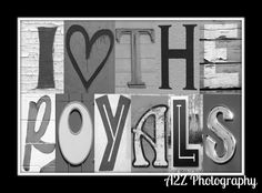 I love the Kansas City Royals letter art Collage by a2zphotography on Etsy, see more at www.facebook.com/a2zphoto