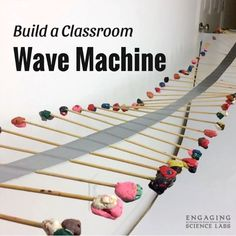 Teaching sound and waves in your classroom? This machine is super cool, easy, and cheap to make! See how wave energy travels down the machine. Study reflection, wavelength, and frequency. This is just one of the activities we do in our middle school scien School Science Experiments, School Science Projects, 4th Grade Science, Middle School Science, Elementary Science, Science Lessons, Teaching Science, Science Education, Science For Kids
