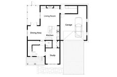 Traditional Style House Plan - 3 Beds 2.5 Baths 2132 Sq/Ft Plan #497-43 Floor Plan - Main Floor Plan - Houseplans.com