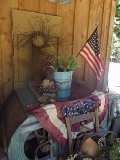 Primitive Patriotic Display...