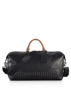 Ralph Lauren Black Label Quilted Leather Duffel Bag | Bloomingdale's