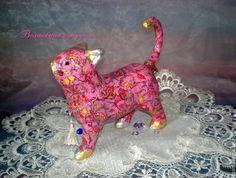 """Купить Интерьерная кошечка """" Розовая мечта"""" - розовый, кошечка, кошечки, кот, котик, котенок"""