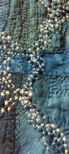 Caro Ramsey, textile artist. Inspired by Japanese boro and shibori