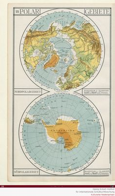 North south pole map maps pinterest cartography design is fine history is mine carl diercke school atlas 1914 gumiabroncs Images