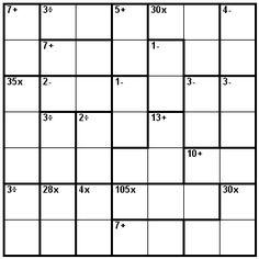 Number Logic Puzzles: 23851 - Kenken size 7