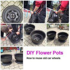 Tire planter like my Grandma had.