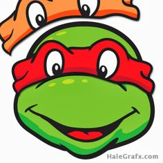 Ponle el antifaz a las Tortugas Ninja. Para Imprimir Gratis.