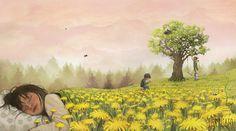 Art And Illustration, Dandelion Flower, Best Artist, Cute Drawings, Pop Art, Art Photography, Artwork, Instagram, Lotta