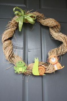 I'm so making something similar to this for my door at the hospital. What are little boys made of?