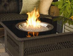 Coffee Table with Firepit.
