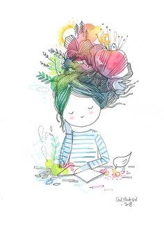 creativity – the chosettes – maman Illustration Mignonne, Art Et Illustration, Art Du Croquis, Art Fantaisiste, Art Mignon, Happy Paintings, Art Abstrait, Whimsical Art, Doodle Art