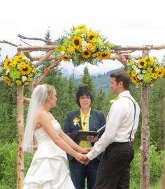 Sunflower wedding in Alaska