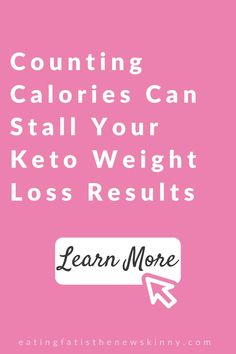Are you still counting calories, even on a keto diet? Keto is an amazing & sustainable weight loss plan, but counting calories to lose weight makes keto a restrictive diet that isn't a long term weight loss plan. When looking to lose weight on a low carb diet, counting macros is more important. When following a keto diet for beginners, or even if you're more advanced, listening to your body is still your best bet. Click to learn how counting calories can wreak havoc on keto weight loss results. Weight Loss Blogs, Weight Loss Before, Weight Loss Motivation, Healthy Weight Loss, Counting Macros, Calorie Counting, Low Carb Diet Plan, Weight Loss Results, Keto Diet For Beginners