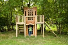 The Playhouse Company Castle Playhouse; I would love to buy this for my girl. Castle Playhouse, Build A Playhouse, Playhouse Outdoor, Playhouse Ideas, Kids Outdoor Play, Outdoor Play Areas, Outdoor Fun, Outdoor Decor, Backyard Fort