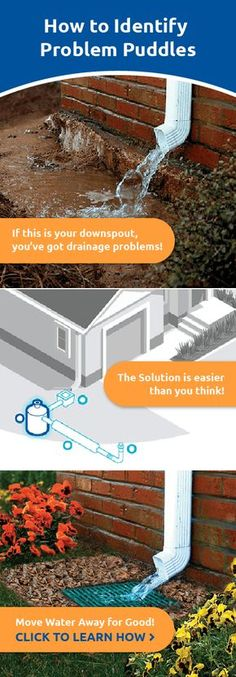 It's raining. Pouring. Puddling. You've got a problem! See how easy, effective drainage can make all the difference.