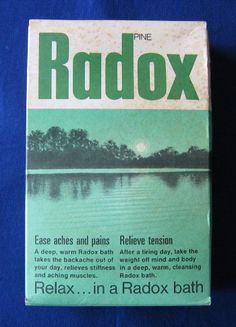 zz Radox pine bath salts - vintage carton, unopened with original contents (c.1970s) (SOLD)