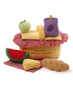 $14.99 marked down from $35! 'My Little Picnic Basket' Plush Set  #zulily! #zulilyfinds