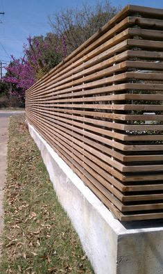 Wood Fence Design, Modern Fence Design, Privacy Fence Designs, House Landscape, Landscape Design, Garden Design, Backyard Fences, Backyard Landscaping, Garden Gates
