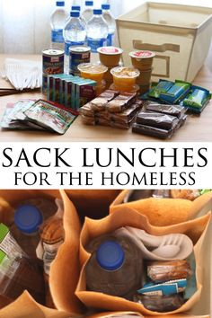 Sack Lunch For Homeless How To Make Sack Lunch For … - Care Package ideas Newest 2020 Homeless Bags, Homeless Care Package, Homeless People, Church Outreach, Community Service Projects, Community Project Ideas, Just In Case, Just For You, Blessing Bags