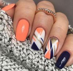 opi nail polish [TOP NAILS] 26 Best Nails for Nail Inspiration - Fav Nail Art opi nail polish Trendy Nails, Cute Nails, Hair And Nails, My Nails, Uñas Fashion, Manicure E Pedicure, Gel Nail Designs, Orange Nail Designs, Designs For Nails