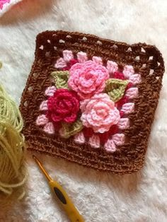 Transcendent Crochet a Solid Granny Square Ideas. Inconceivable Crochet a Solid Granny Square Ideas. Crochet Squares, Granny Square Crochet Pattern, Crochet Blocks, Crochet Stitches Patterns, Crochet Granny, Love Crochet, Crochet Motif, Crochet Designs, Crochet Flowers