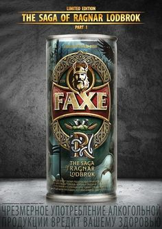 Faxe Limited Edition can Vikings, Beer Art, Drink Signs, Love Your Family, Beer Stein, Totally Awesome, Best Beer, Craft Beer, Beer Bottle