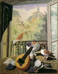 "Gino Severini (Italian, 1883 - - ""Finestra con colombi"" (Window with pigeons), 1930 Italian Painters, Italian Artist, Walker Evans, Gino Severini, Pigeon, Italian Futurism, Futurism Art, Vanitas Vanitatum, Georges Braque"