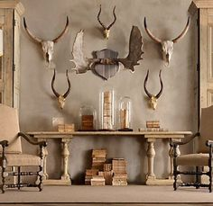 The Style Hunter Diaries: Home: Decorating With Antlers
