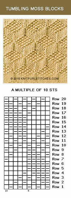 Knitting and Purling. The stitch is simple and attractive. Knitting and Purling. The stitch is simple and attractive. Source by arianerhoesewebde Knitting Stiches, Knitting Charts, Baby Knitting Patterns, Loom Knitting, Knitting Socks, Stitch Patterns, How To Start Knitting, How To Purl Knit, Knit Purl