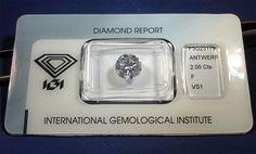 Catawiki Online-Auktionshaus: Diamant im Brillantschliff 2,05 ct. F VS1