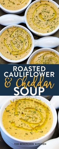 This roasted cauliflower and cheddar soup recipe is so incredibly easy! Using minimal (and simple) ingredients this comfort food brings a healthy twist on cheesy goodness! Oh and low carb recipe lovers - it's keto friendly too. #ketorecipes #lowcarbrecipes