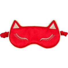 Pre-owned Charlotte Olympia Cat Nap Sleep Mask ($95) ❤ liked on Polyvore featuring red and charlotte olympia